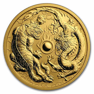 2019 Australia 1 oz Gold Dragon & Tiger BU - SKU#181751