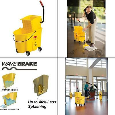 WaveBrake 35 Qt. Plastic Mop Bucket with Wringer FREE SHIPPING NEW