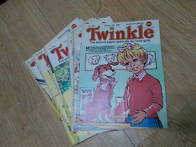 Bundle of 16 Vintage Twinkle Comics 1985