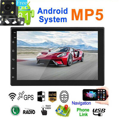 Bluetooth FM Player Stereo Radio Car 2Din HD MP5 Touch Screen + Free Rear Camera