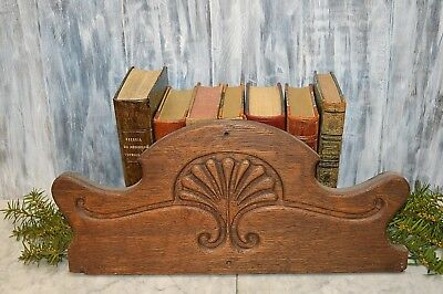 Antique Carved Wood Pediment Shell Motif Architectural Salvage