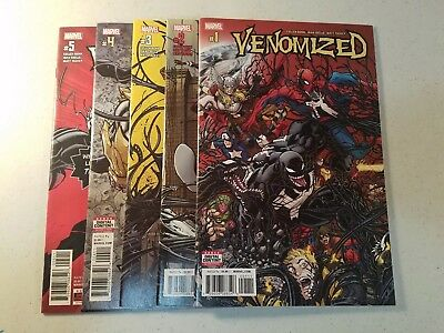 VENOMIZED #1 2 3 4 5, 1-5 1ST PRINT SET 2018 NM Marvel Comics Venom 2 Movie