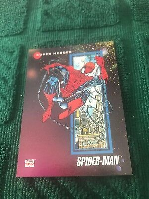 1992 Impel Marvel Universe Series 3 Prototypes #1-Spider Man Card NM