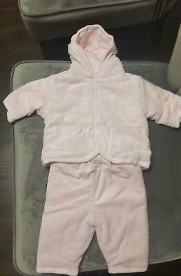 Infant Girls Pink Winter Outfit Size 3 Months