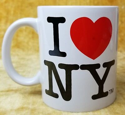 White NYC Classic I Love NY Mug  11oz Licensed I Heart NY Mug from New York City