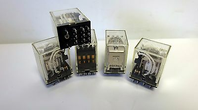 Omron My4  24Vdc Relay 14 Pin  5A 240Vac  5A 28Vdc. Tested. Lot Of 5
