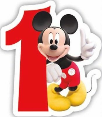 1st Birthday Candle Disney Mickey Mouse Boy First Age 1 Party Cake Decoration