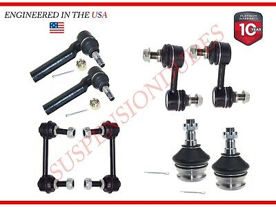 8PC Sway Bar Ball Joint Outer Tie Rods for Subaru Forester 03-08 Impreza 04-07