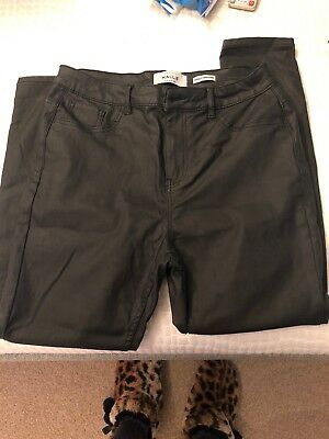 black leather look jeans Size 14
