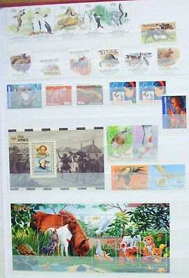 AUSTRALIA / AAT Selection MNH / MM Minisheets & stamps. 1990's. FV $A12.00+