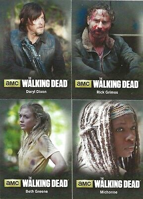 The Walking Dead Cryptozoic Season 4 Complete Character 18 Card Set