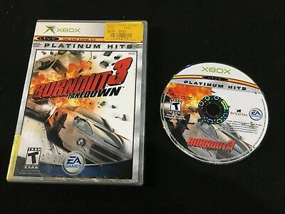 XBOX ORIGINAL BURNOUT Video Game + Instruction manual
