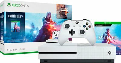 Xbox One S 1TB Battlefield V Bundle Brand New Factory Sealed Fast Free Ship