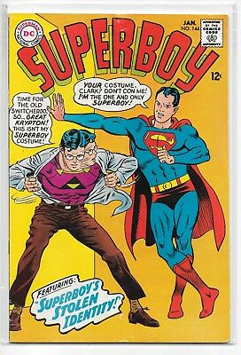 Superboy #144 VG/FN 5.0 DC Classic Silver Age 1968!!!