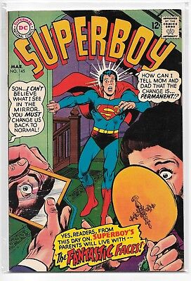 Superboy #145 VG/FN 5.0 DC Classic Silver Age 1968!!!