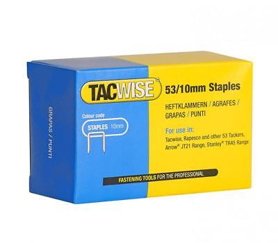 Tacwise Type 53 10mm Galvernised Staples for Staple Gun (Pack of 5000)