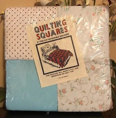"""5"""" Pre-Cut Quilting Squares ~ Full Size Bed Spread or Quilt Top NEW"""