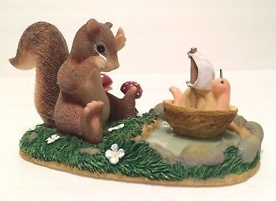 "Charming Tails ""I Miss You Already"" 89/756 Squirrel & Snail in Boat Fitz & Floyd"