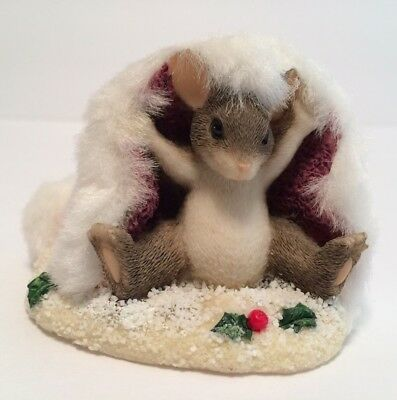 Charming Tails Mackenzie's Holiday Hat Fitz & Floyd 98/202 Special Edition 1998