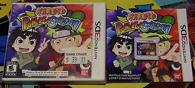 Naruto Powerful Shippuden (2013) Nintendo 3DS Complete CIB W/ Game-Case-Manual!