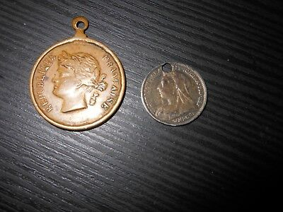 2 Vintage Fob Chain Coins