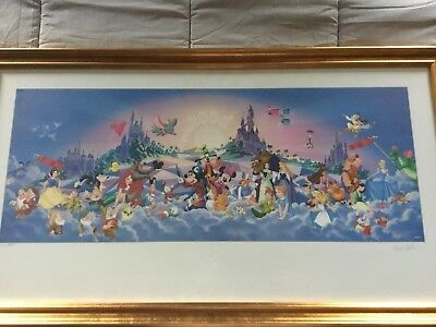 "Disney Poster ""Celebrate the Future Land to Land"" Signed"