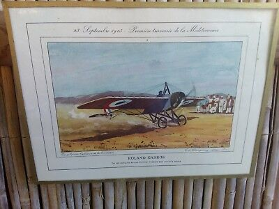Collection Aeronautique Aviation 16 Dessins Encadres De Jean Noel Tres Bon Etat