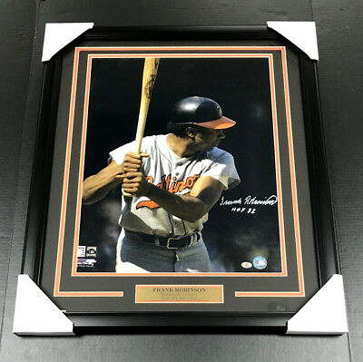 Frank Robinson Baltimore Orioles Signed Autographed 16X20 Framed Photo
