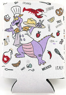 New Disney Parks Epcot Food & Wine Festival Chef Figment Can And Bottle Koozie