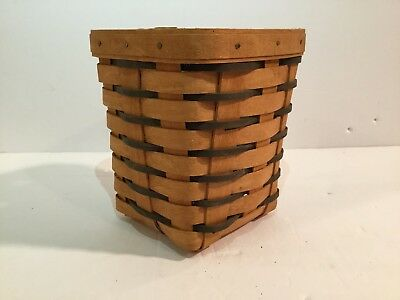 "Longaberger 1995 6"" Cannister w/ Dividers Woven Basket"