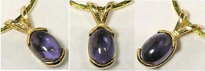18thC Antique ¾ct Iolite 14kt Medieval Shaman Amulet Sacred to Roman God Jupiter