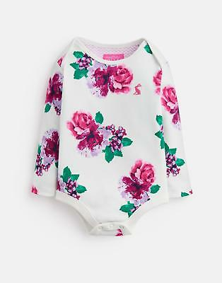 Joules Baby Snazzy Printed Bodysuit in Cream Floral