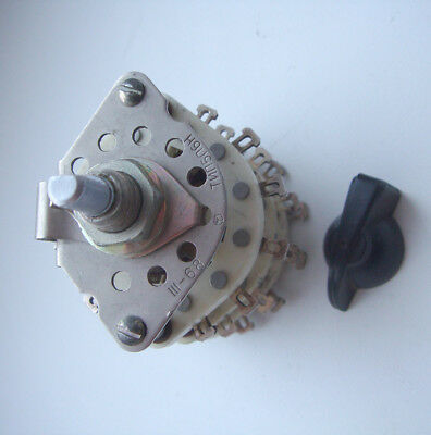 5P6N  5-Position 6-Pole Ceramic Rotary switch 3A 350V