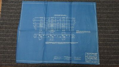 """(CR34) Original 1918 Blueprint Drwg 21"""" x 27"""" - Detail of Fastening of Continuou"""