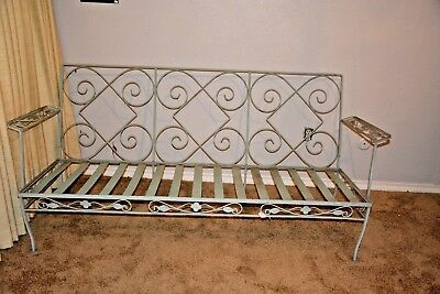 Vintage Wrought Iron Patio Furniture Couch/Loveseat