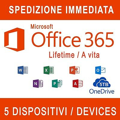 Office 2019 365 Professional Plus 5 DEVICES Windows Mac Tablet 5TB OneDrive