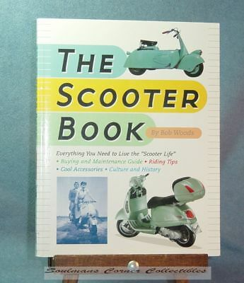 Terrific Rare Vintage The Scooter Book by Bob Woods - FREE SHIPPING!!