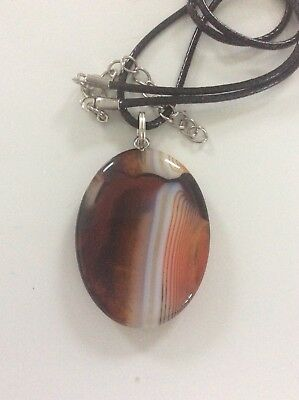 Code 251 Red White Black Agate Stunning Agate Attracting Necklace Free Post Aus