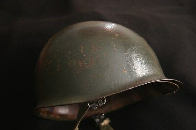 WW2 Helmet Named13th Armored 24th Tank Battalion Westinghouse Liner KILL MARKS!