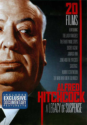 New! Alfred Hitchcock: A Legacy Of Suspense 20 Movie 4-Disc Dvd Set Ships Free