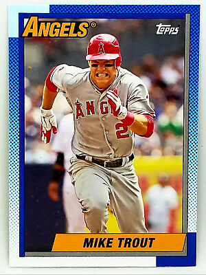 Rare Mike Trout Retro 1990 Topps Style! 2013 Topps Archives #200 Angels, Mvp!!!