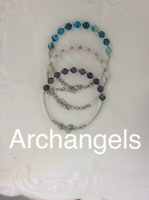 Code 252 Bring the Archangels into your life Set Of 3 Archangel's bracelet