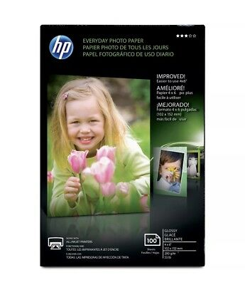 Hp Everyday Photo Paper 100 Glossy Sheets 4x6 Bring Your Photos To Life!