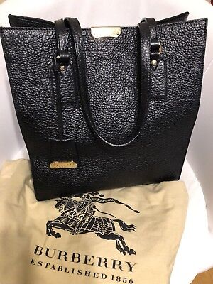 94744ef57869 NEW! 100% AUTHENTIC BURBERRY Small Embossed Crest Leather Tote NWT ...