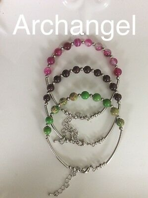 Code 255 Bring the Archangels into your life Set Of 3 Archangel's bracelet Gift