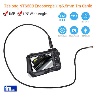 Teslong NTS500 6.5mm 100MP 5Inch Portable IP67 Industrial Borescope Snake Camera