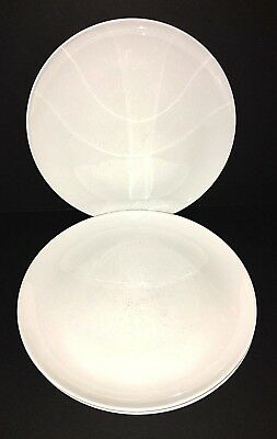 "Set of 4 Vintage CENTURA White by Corning Dinner Plates 10"" READ Description"
