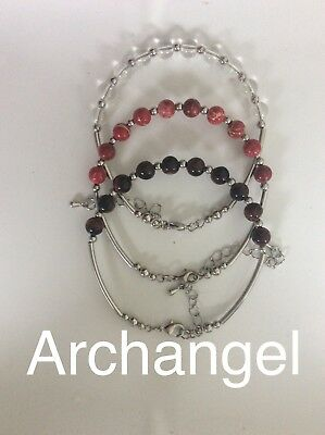 Code 256 Bring the Archangels into your life Set Of 3 Archangel's bracelet Gift