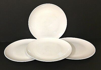 "Set of 4 Vintage CENTURA White by Corning Luncheon Plates 8 5/8"" READ Descrip"