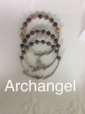 Code 257 Bring the Archangels into your life Set Of 3 Archangel's bracelet Gift